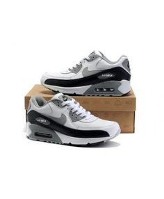 online store 9d23a 70c3f Mens Nike Air Max 90 Grey White Black 6809331-180