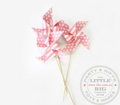 Pink Polka Dot Pinwheel on wooden stick Windmill x 6 | Easter | Party Themes | Party Collection | The Little Big Company Pty Ltdparty, glass bottles, swizzle sticks, beverage dispenser, birthday, gift, rock candy