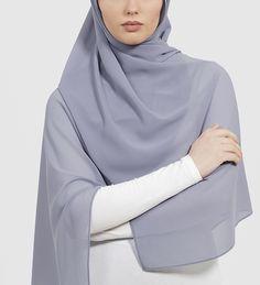Cool Grey Soft Crepe Hijab - £11.90 : Inayah, Islamic Clothing & Fashion, Abayas, Jilbabs, Hijabs, Jalabiyas & Hijab Pins