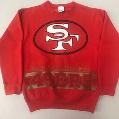 0dd53e00 Vintage 1995 San Francisco SF 49ers Sweatshirt Football 90s VtG Youth or XS