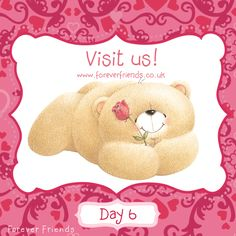 Countdown till Valentine's Day couldn't have begun better!  Participate in our contest and answer the question on http://www.foreverfriends.co.uk/countdown-to-valentines, for a chance to win cute and personalised Forever Friends bear. xxx
