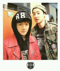 EXO Growl Polaroid - BAEKHYUN and CHANYEOL