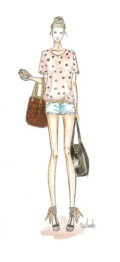 fashion sketch fashion illustration girl street style