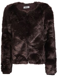 Only Kunstfell Jacke für 69,95€. Kurze Kunstfell-Jacke., Reißverschluss vorn., 2 Vordertaschen. bei OTTO