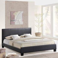 Modway Alex Upholstered Platform Bed Finish: Black, Size: Queen
