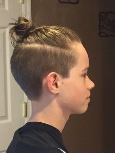 Man bun with undercut