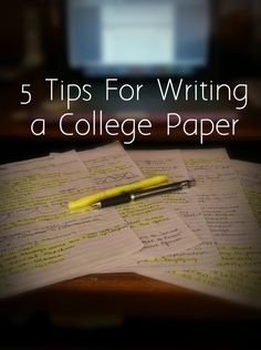 5 Tips for Writing a College Paper  #studytips