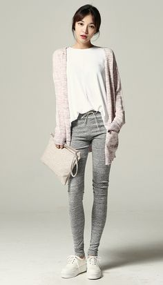 I love these long knit cardigans.