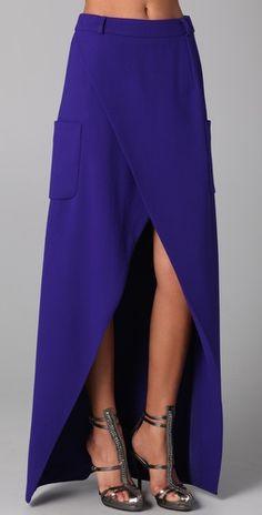 Preen Long Slice Skirt