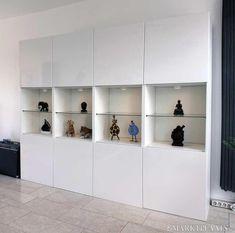 38 New Ideas For Apartment Living Room Design Ikea Shelves Ikea Hack Storage, Hacks Ikea, Ikea Shelves, Shelving Units, Diy Storage, Glass Shelves, Ikea Living Room, Living Room Storage, Cheap Furniture
