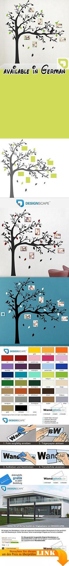 DESIGNSCAPE® Wandtattoo Baum mit Fotorahmen und Katze | Wandtattoo für Fotos 160 x 160 cm (Breite x Höhe) Farbe 1: hellgrün DW807386-M-F87. WICHTIG: Bitte senden Sie uns nach Ihrer Bestellung Ihren Farbwunsch für die Zusatzfarbe (Baum mit Katze und Blätter) per Mail oder über Amazon/Verkäufer kontaktieren. Die übrigen Teile (Fotorahmen und ein Teil der Blätter) werden in der aktuell ausgewählten Farbe 1 gefertigt: hellgrün. Hervorragende Markenqualität von DESIGNSCAPE®.