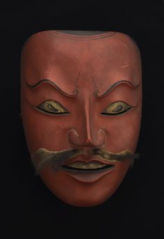 Regional Masks  Java - Topeng Mask, early 20th c.  Polychromed wood, fur  8.25 x 6.25 x 5.25 inches  21 x 15.9 x 13.3 cm