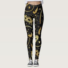 Mardi Gras Masquerade Pop Fashion Leggings - tap/click to get yours right now!  #fashion #contemporary #dance #troupe #mardi Patterned Leggings, Cute Leggings, Best Leggings, Printed Leggings, Gold Leggings, Mardi Gras Outfits, Mardi Gras Costumes, Contemporary Dance Costumes, Long Sleeve Leotard
