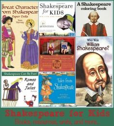 These fun Shakespeare for Kids resources will make teaching about Shakespeare and his plays so much more fun - especially if you, the teacher, don't enjoy it.