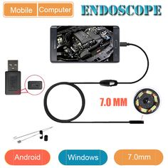 Industry Endoscope 7MM Endoscope USB Android Endoscopio Camera IP67 Android Borescope USB Endoskop Inspection Camera