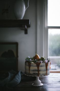 Whiskey Date & Buttermilk Cake with Salted Pear Caramel Buttercream