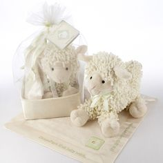 Babies r us little lamb plush lamb babies r us toys r us love ewe plush lamb and lovie gift set in organza and satin drawstring bag baby aspen babies r us negle Image collections