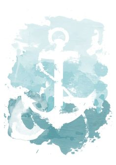 Nautical Watercolor Shower Curtain by joeyj Nautical Design, Nautical Theme, Nautical Anchor, Watercolor Print, Watercolor Paintings, Crayon Painting, Tattoo Watercolor, Nautical Painting, Anchor Painting