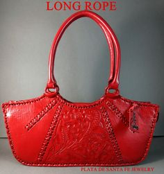 Tooled Leather Purse, Leather Tooling, Leather Purses, Leather Handbags, Handbags On Sale, Purses And Handbags, Cheap Purses, Red Purses, Red Lipsticks