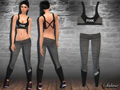 The Sims Resource: Pink Workout Outfit by Saliwa • Sims 4 Downloads