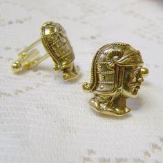 Golden Roman Helmet Cuff Links  Greek Roman by SouthernBelleOOAK, $24.00
