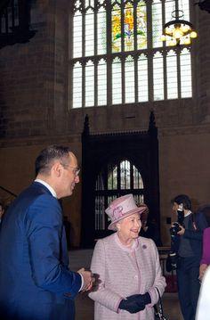 Queen Elizabeth II visits Westminster Hall, December 6, 2013.