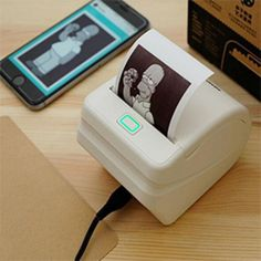 MEMOBIRD Photo Thermal Printer - with Micro USB interface and WiFi function, Supports wireless remote print by mobile phone APP Wifi Printer, Printer Scanner, Printer Paper, Instax Printer, Portable Printer, Tech Gadgets, Cool Gadgets, Pocket Wifi, Fast Print
