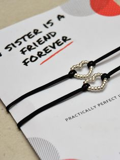 Sisters bracelets heart silver bracelet Wish bracelet for sister Love bracelet Gift for sister Charm bracelet Sister wish string bracelet Big Sister Gifts, Bff Gifts, Cute Gifts, Gifts For Her, Sister Sister, Sister Bracelet, Heart Bracelet, Cute Christmas Gifts, Birthday Gifts For Sister