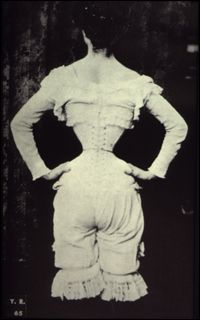 "In 16th century Victorian times, women began ""tight lacing"" a method of cinching corsets so tightly that prolonged wearing of them would actually alter their shape. Surely this was painful. It has been claimed that tight lacing weakens certain muscles, damages organs and causes fractures to rib bones."