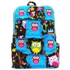 Owl Town Back Pack Purse - Pink, $14.00
