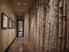 Aspen lined hallway.  This is happening!