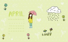 FREEBIE: Downloadable April Calendar For Your Desktop