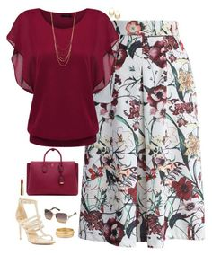A fashion look from June 2016 featuring Chicwish skirts, VC Signature sandals and MCM tote bags. Browse and shop related looks. Classy Outfits, Beautiful Outfits, Casual Outfits, Mode Outfits, Fashion Outfits, Skirt Outfits, Fashion Ideas, Work Fashion, Fashion Looks