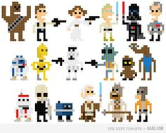 Star Wars, could be crossed stitched.