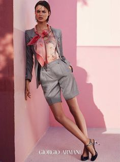 short suits for spring & summer #businesswear #giorgioarmani