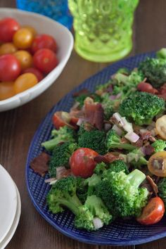 Broccoli Salad with Avocado and Bacon - What's Gaby Cooking