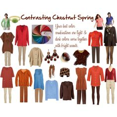 Contrasting Chestnut Spring Color Palette--from Seasonal Color Analsysis (for Women of Color)