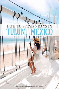 My detailed five-day Tulum Mexico itinerary & how to plan your own Tulum trip complete with white-sand beaches cenotes and delicious tacos and seafood. How to Plan Your 5 Day Tulum Mexico Itinerary Vallarta Mexico, Cancun Mexico, Tulum Mexico Resorts, Quintana Roo Mexico, Tulum Hotels, Cool Places To Visit, Places To Travel, Travel Destinations, Travel Europe