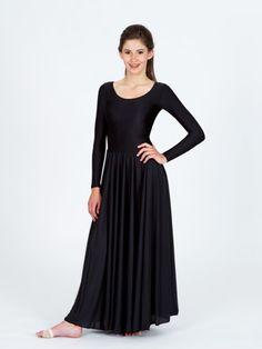 19c6e0fa05be Danzcue Praise Full Length Long Sleeve Dance Dress