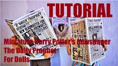 Tutoriel : journal miniature Harry Potter La Gazette du Sorcier pour nos... Miniatures Harry Potter, Doll Tutorial, Lps, Pet Shop, Barbie, Journal, Youtube, Journaling, Pet Store