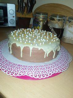 Nutella mascarpon cake with white chocolate ganache