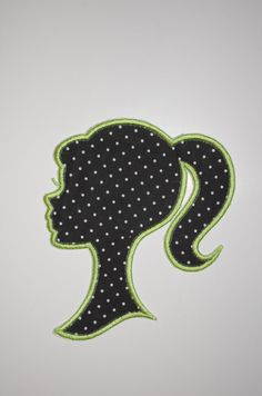 Iron On Applique Girl Silhouette by OkayNowItsPersonal on Etsy, $5.25