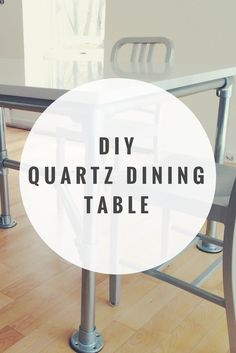 Learn how to build this table in DIY Quartz Dining Table Built