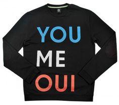 You Me Oui Sweatshirt by Mark Owens for Sixpack France - artatheart ($50-100) - Svpply