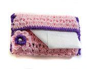Crocheted Pocket Size Tissue Cover - Free Shipping. $10.00, via Etsy.