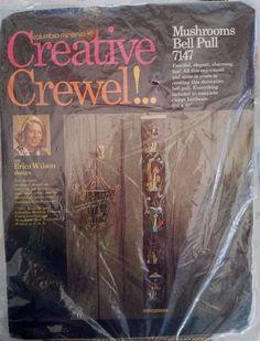 Unopened #1971 #Vintage #Crewel #Needlepoint Kit #Mushroom #Bell #Pull Wall Hanging http://cgi.ebay.com/ws/eBayISAPI.dll?ViewItem&item=252630940382&roken=cUgayN&soutkn=5tVYSK