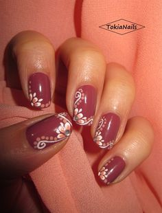 Flowers by TokiaNails - Nail Art Gallery nailartgallery.nailsmag.com by Nails Magazine www.nailsmag.com #nailart