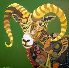 Jude Bischoff Modern Animals Modern Big Horn II