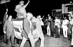 At a diplomatic conference in Uganda, Idi Amin forced four local British businessmen to carry him around in a sedan chair for a literal interpretation of the white's man burden. He also ordered a Swedish diplomat to follow him with an umbrella because hey, why not.