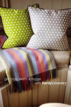 It's getting cold out! Get cosy and #hygge with our gorgeous throw!